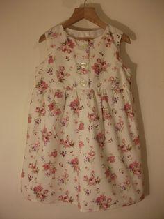 Vintage Rose Smock Dress.