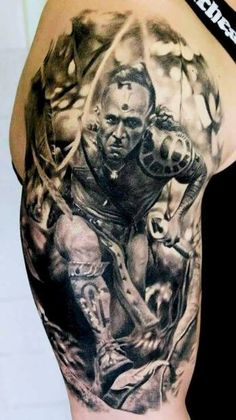 Warrior Tattoo Arm  - http://tattootodesign.com/warrior-tattoo-arm/  |  #Tattoo, #Tattooed, #Tattoos