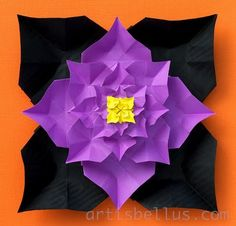 Origami Decorations: Halloween Flower