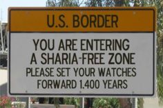 Notices being planned for U.S. Border crossing points under a Trump Presidency in 2017 :)