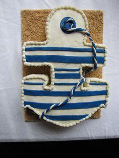 Ahoy It's A Boy Anchor Cake