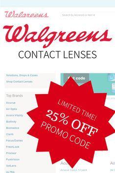 13127646383 Check out our latest article to find the latest discount and promo codes to  use towards prescription contact lenses at Walgreens.com and save up to 25%  off ...
