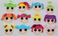 Emily's Delights: Lalaloopsy Cupcake Toppers