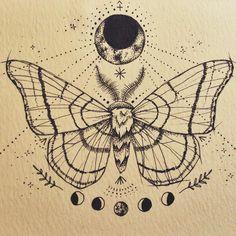 :: moon moth :: sternum tattoo design commission