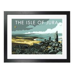 'Isle of Jura Glas Bheinn' Graphict Art East Urban Home Size: 21 cm H x cm W x 5 cm D, Frame Options: White Painting Frames, Painting Prints, Wall Art Prints, Fine Art Prints, Canvas Prints, Frames On Wall, Framed Wall Art, Isle Of Jura, State Art