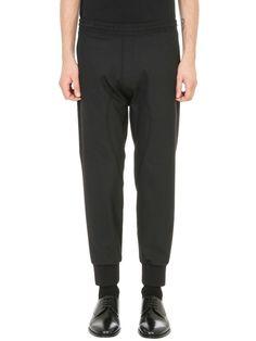 NEIL BARRETT Neil Barrett Elasticated Waistband Grey Wool Pants. #neilbarrett #cloth #https: