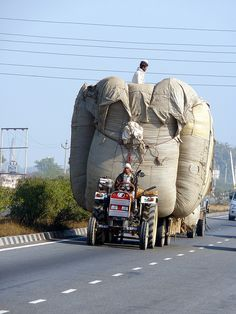 Big load for a small tractor by doitsunosensei, via Flickr