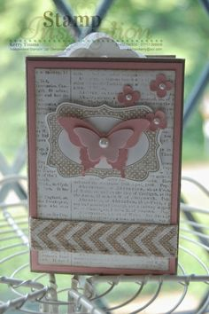 Mini Album using Stampin' Up! Scallop Tag Topper Punch.  For inspiration, ideas and information about being a Demonstrator visit www.kerrysstampinspiration.blogspot.com