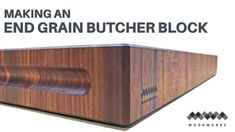 How to Make a Walnut End Grain Butcher Block Woodworking Books, Router Woodworking, Woodworking As A Hobby, Woodworking Projects Diy, Wood Projects, Walnut Butcher Block, Butcher Block Top, Butcher Blocks, Woodworking