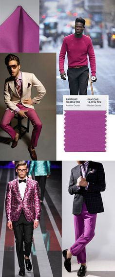 Radiant Orchid in Menswear ... Ummmmm Amazing @Bows-N-Ties .com