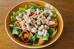 Recipe for Leftover Chicken Asian Chopped Salad  [from Kalyn's Kitchen]