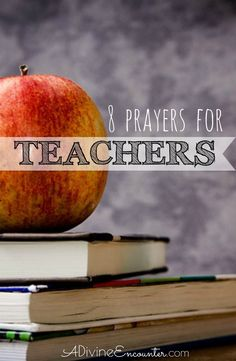 Teachers make a significant impact in our lives. Consider lifting to the Lord these biblical prayers for teachers. Make a priority by praying the Scriptures for the teachers in your life. Teacher Devotions, Teacher Prayer, Teacher Quotes, Scripture For Teachers, Prayer For Teachers, Scripture Cards, Teacher Appreciation Gifts, Teacher Gifts, Back To School Prayer