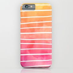 Modern pink yellow sunset watercolor ombre stripes pattern Phone Case by Girly Trend on Society6  @society6 #watercolor #color #orange #pink #stripes #phone #iphone #case #society6 #products #design #shop #shopping #buy #sale #fun #gift #idea #accessory #accessories #home #decor #style #fashion #art #digital #contemporary #cool #hip #awesome #awesomeness #chic #fashion #style #print #wall #homedecor #sweet