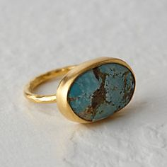 Turquoise Oval Ring #anthroregistry