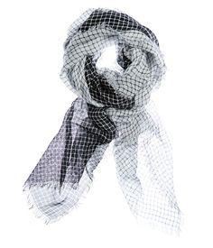 Cage Print Scarf in Black/White   100% Modal   AU$79   Saba