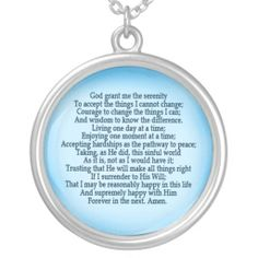 Shop Serenity Prayer Necklace created by Personalize it with photos & text or purchase as is! Serenity Prayer, Fashion Necklace, Jewlery, Prayers, Wisdom, God, Gifts, Amen, Qoutes