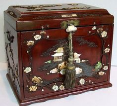 Beautiful Antique Chinese Wood Table Cabinet. Fine Antique Chinese Lacquered ...