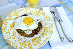 Latke with Sunnyside Egg