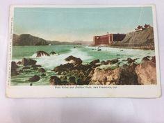 Vintage Fort Point and Golden Gate, San Francisco, CA postcard unposted
