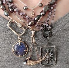 Tanzanite Pendant, Pearl Grey, Necklaces, Bracelets, Bohemian Jewelry, Boho Chic, Fashion Jewelry, Jewels, Cool Stuff