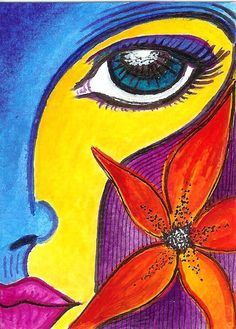 Beautiful Dreamer by Robin Mead Art Journal Inspiration, Painting Inspiration, Art Pictures, Art Images, Acrylic Painting For Beginners, Tinta China, Face Sketch, Mail Art, Watercolor And Ink
