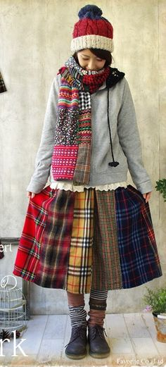 Redo Clothes, Sewing Clothes, Boho Skirts, Cycling Outfit, Tartan Plaid, Refashion, Kids Outfits, Girl Fashion, Rock