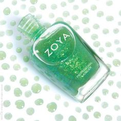 """Zoya Nail Polish's October Birth Color: Lustrous Opal, """"A sheer green base with reflective Mylar flakes that shift from bright green to blue. A great top coat to go over any nail polish color to make those lovely nails shine with a effect. Green Nail Polish, Zoya Nail Polish, Nail Polish Colors, Green To Blue, Shades Of Green, Bright Green, Birth Colors, Beautiful Nail Polish, October Birth Stone"""
