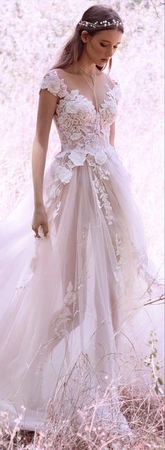 db6b8dab1 Boho brides, rejoice and get ready for some impossibly beautiful wedding  dresses! GALA by