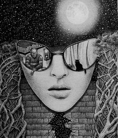 Луна. холст обтянут хлопчатобумажной тканью.написан гелевой ручкой+тушь.в стиле графика,сюрреализм,фэнтези. http://kartinu.com/picture/10538.html #kartunu_com #живопись #арт #рисунок #креатив #карандаш #хобби #творчество #портрет #draw #мастеркласс #drawings #скетч #искусство #своимируками #питер #художник #идея #краски #иллюстрация #пейзаж #рисование #creative #moscow #картина #вдохновение #рисую #акварель #графика #ярисую