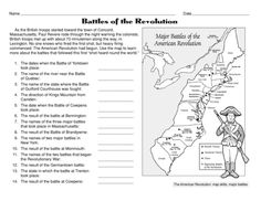 Battles of the Revolution, Lesson Plans - The Mailbox