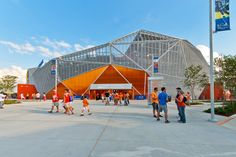 populous wraps BBVA compass stadium in houston with tessellated screen