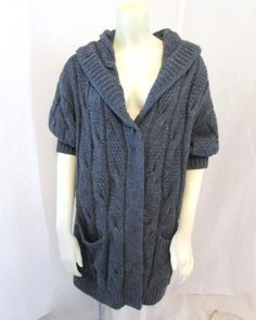 New Women's Gap open weave short sleeve long cardigan sweater ...
