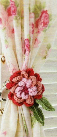 alzapaños al crochet para cortinas - Pesquisa Google