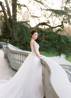 Wedding Dress with Bow Sleeves and V-Neck by Wedding Rouge Photography Paris Wedding, Dream Wedding, Elegant Wedding Gowns, Wedding Dresses, Wedding Venues, Destination Wedding, Wedding Photoshoot, Paris France, Wedding Photography