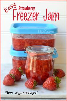 Strawberry Freezer Jam (No Canning Required)