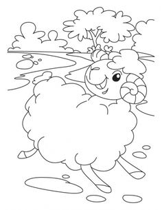Sheep in a shipping style coloring pages | Download Free Sheep in a shipping style coloring pages for kids | Best Coloring Pages