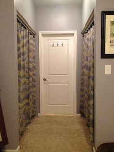 Curtain Call! How to take off sliding closet doors & replace them with curtains