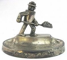 IRON FIREMAN ashtray 40's Vintage by jpmslcom on Etsy