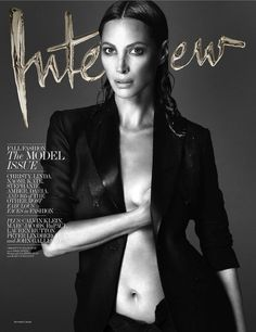 Christy Turlington photographed by Mert Alas and Marcus Piggott for Interview's September 2013 cover.