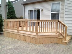 Captivating Pictures of Wood Decks Designs Your Dream Home Must Have — Skookum Archery Porch Railing Kits, Deck Railing Design, Wood Deck Designs, Deck Pictures, Garden Stepping Stones, Deck Builders, Design Your Dream House, Wood Patio, Wooden Decks