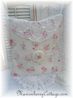 Bustier Lingerie Bag French pink roses Romantic and Victorian cottage style. $38.95, via Etsy.