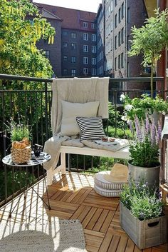 Make the most out of your balcony by adding simple yet multi functioning furniture. Make sure that the floor is well taken designed since this will create a big impact on the overall theme of the balcony.