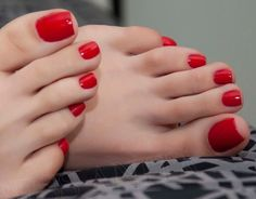Red Fancy Nails, Pretty Toe Nails, Pretty Toes, Sexy Toes, Red Toenails, Nice Toes, Nails On Fleek, Women's Feet, Beautiful Gorgeous