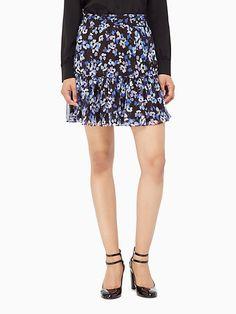 hydrangea chiffon skirt - Kate Spade New York