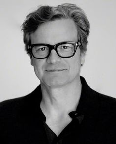 CF in Paris for Magic in the Moonlight Premiere. Colin Firth, male actor, celeb, glasses, powerful face, intense eyes, portrait, photo b/w.