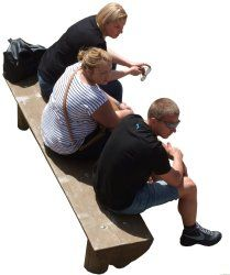 People cutouts: Group Sitting 0010 cutout download