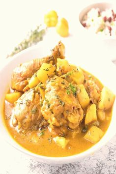 #Curry #chicken #chicken #jamaican jamaican chicken curry white front bowl from the in a Jamaican curry chicken in a white bowl from the frontYou can find Curry chicken and more on our website Jamaican Cuisine, Jamaican Dishes, Jamaican Recipes, Cajun Recipes, Curry Recipes, Indian Food Recipes, Chicken Recipes, Cooking Recipes, Healthy Recipes