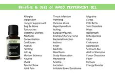 Uses for Peppermint Oil. #essentialoils #lifeessentially #ameo