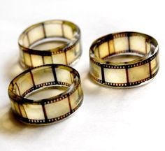 Yes, those are film reel rings.