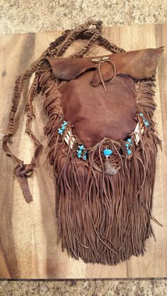 Sac cuir amérindien Precommande uniquement par TribalTerri sur Etsy